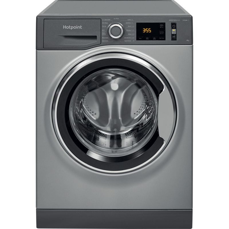 Hotpoint-Washing-machine-Free-standing-NM11-844-GC-A-UK-N-Graphite-Front-loader-B-Frontal