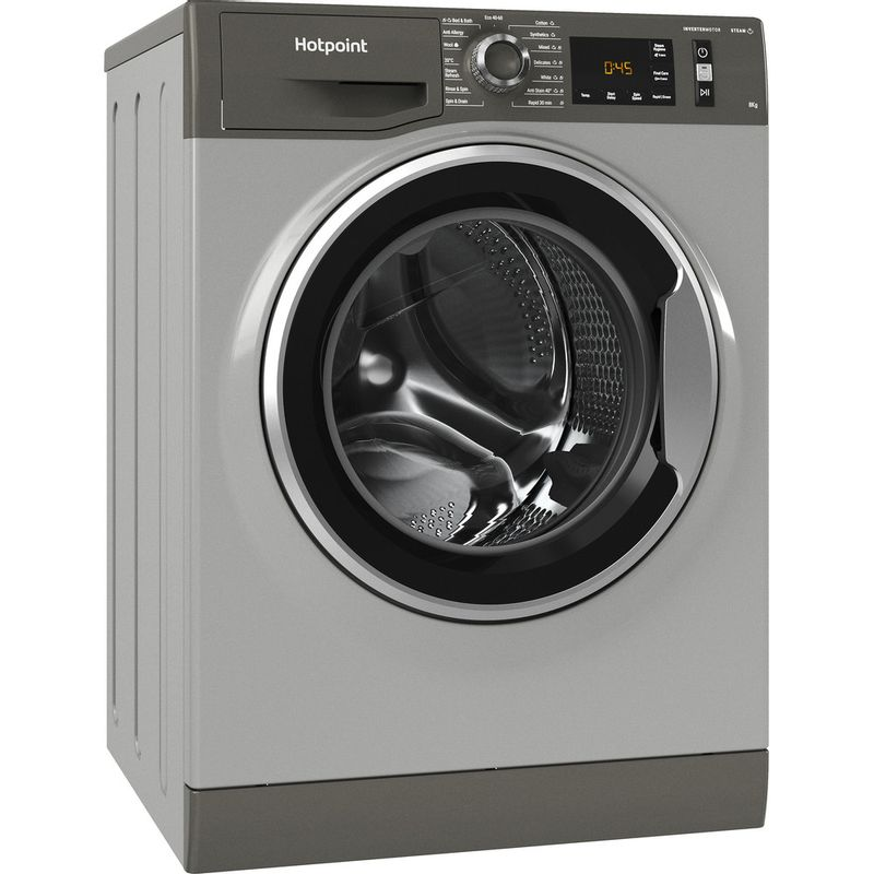 Hotpoint-Washing-machine-Free-standing-NM11-844-GC-A-UK-N-Graphite-Front-loader-B-Perspective
