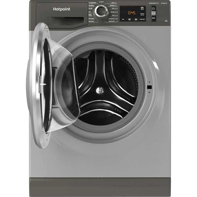 Hotpoint-Washing-machine-Free-standing-NM11-844-GC-A-UK-N-Graphite-Front-loader-B-Frontal-open