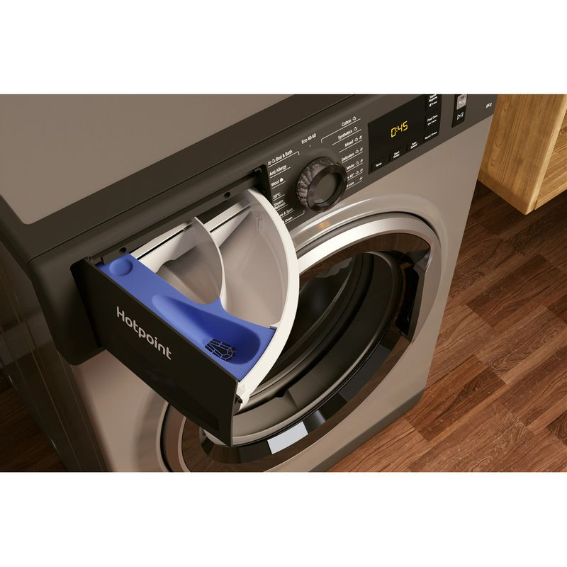 Hotpoint-Washing-machine-Free-standing-NM11-844-GC-A-UK-N-Graphite-Front-loader-B-Drawer