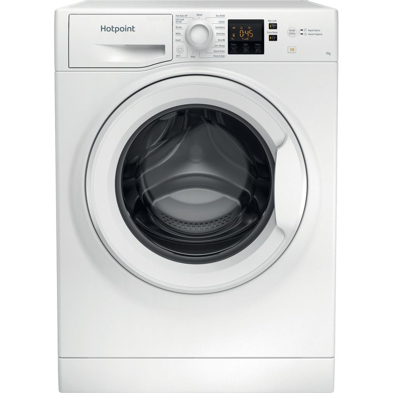 Hotpoint-Washing-machine-Free-standing-NSWR-742U-WK-UK-N-White-Front-loader-E-Frontal