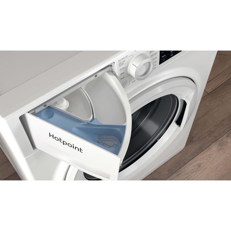 Hotpoint-Washing-machine-Free-standing-NSWR-742U-WK-UK-N-White-Front-loader-E-Drawer