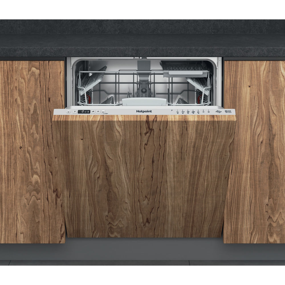 Hotpoint Integrated Dishwasher HIC 3C33 CWE UK : discover the specifications of our home appliances and bring the innovation into your house and family.