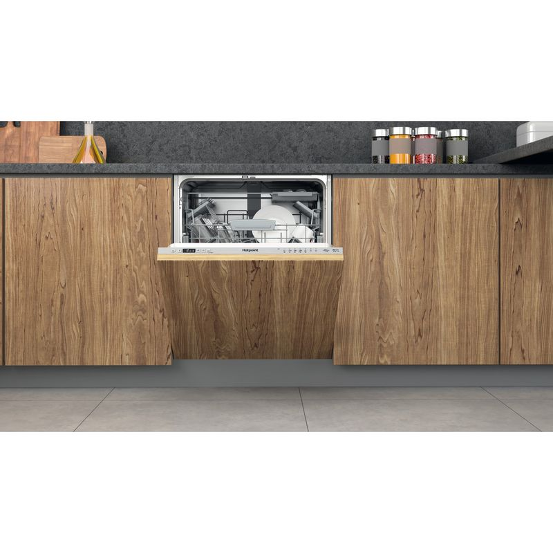 Hotpoint-Dishwasher-Built-in-HIC-3C33-CWE-UK-Full-integrated-D-Lifestyle-frontal-open
