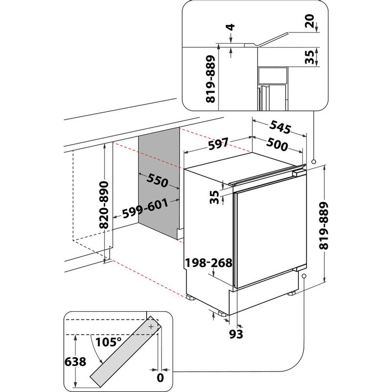 Hotpoint-Refrigerator-Built-in-HF-A1.UK-1-Steel-Technical-drawing