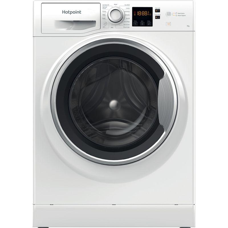Hotpoint-Washing-machine-Free-standing-NSWE-742U-WS-UK-N-White-Front-loader-E-Frontal