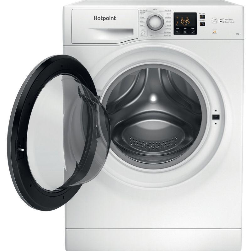 Hotpoint-Washing-machine-Free-standing-NSWE-742U-WS-UK-N-White-Front-loader-E-Frontal-open