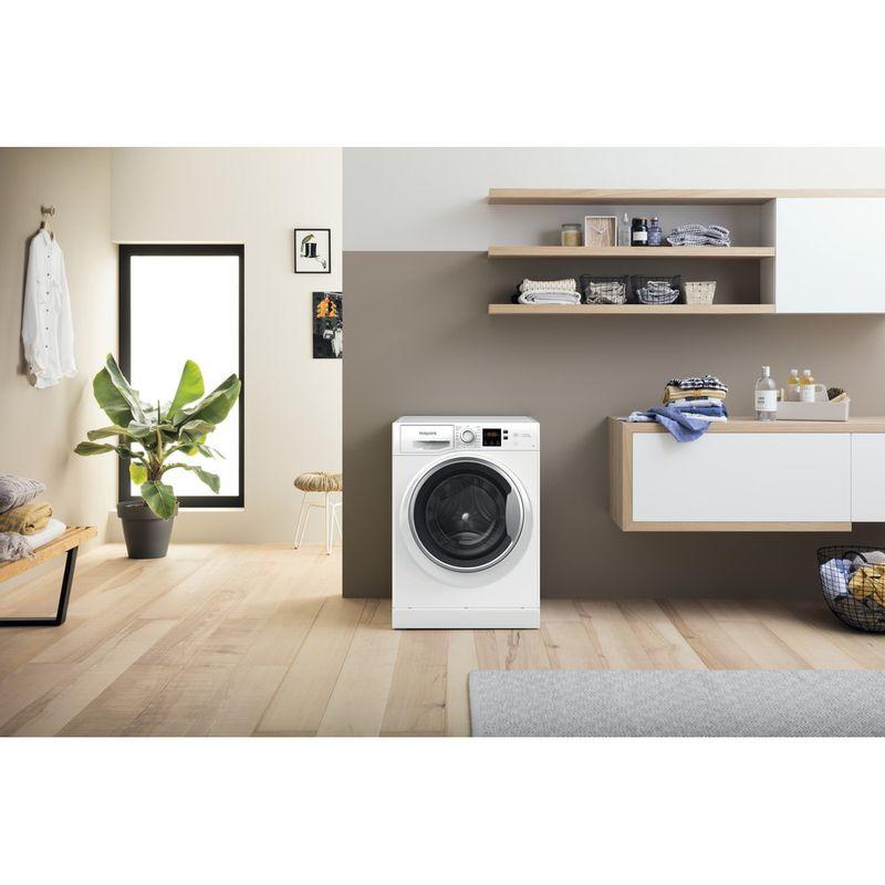 Hotpoint-Washing-machine-Free-standing-NSWE-742U-WS-UK-N-White-Front-loader-E-Lifestyle-frontal