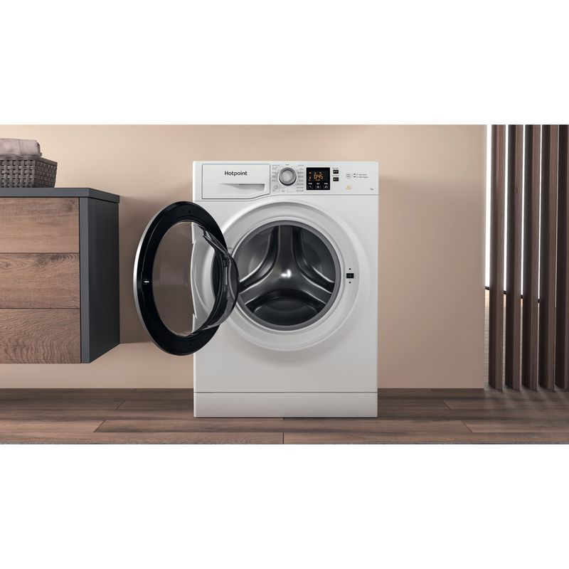 Hotpoint-Washing-machine-Free-standing-NSWE-742U-WS-UK-N-White-Front-loader-E-Lifestyle-frontal-open