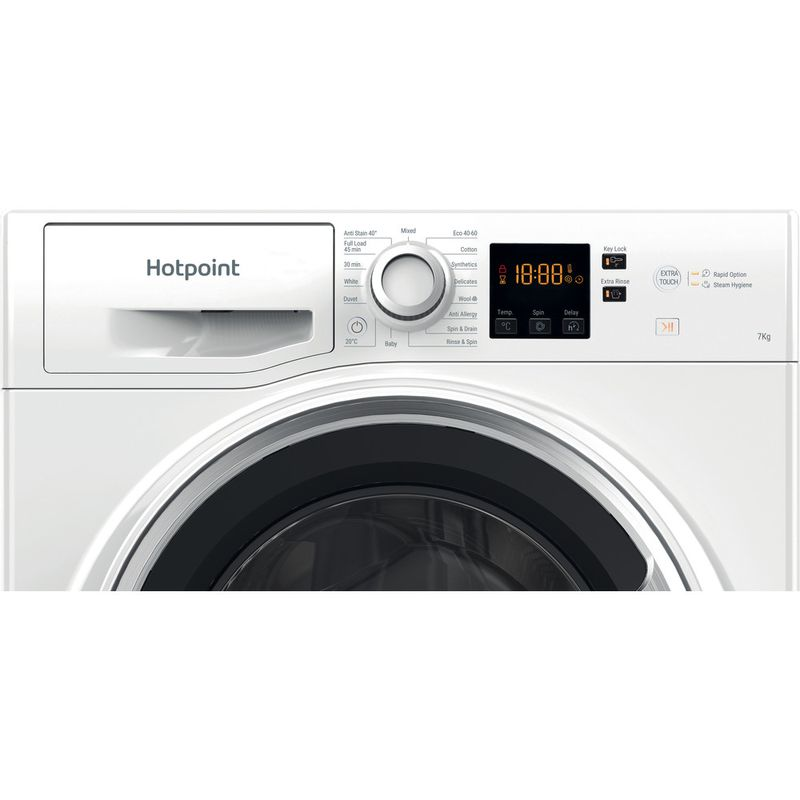 Hotpoint-Washing-machine-Free-standing-NSWE-742U-WS-UK-N-White-Front-loader-E-Control-panel