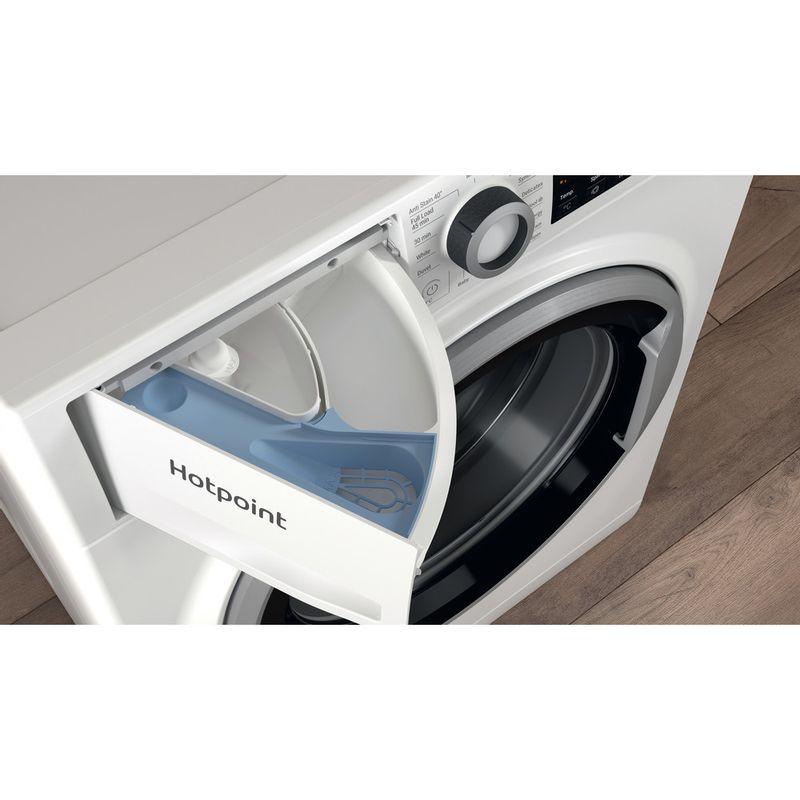 Hotpoint-Washing-machine-Free-standing-NSWE-742U-WS-UK-N-White-Front-loader-E-Drawer