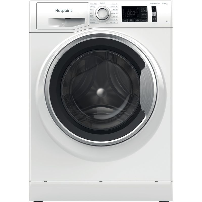 Hotpoint-Washing-machine-Free-standing-NM11-945-WS-A-UK-N-White-Front-loader-B-Frontal