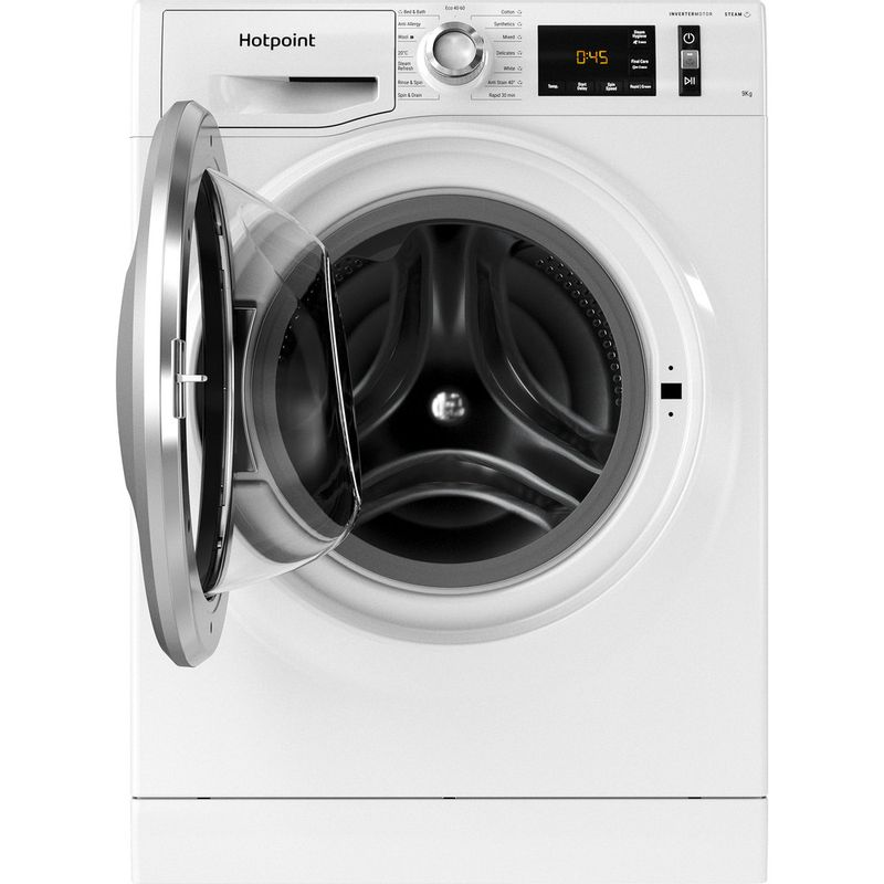 Hotpoint-Washing-machine-Free-standing-NM11-945-WS-A-UK-N-White-Front-loader-B-Frontal-open