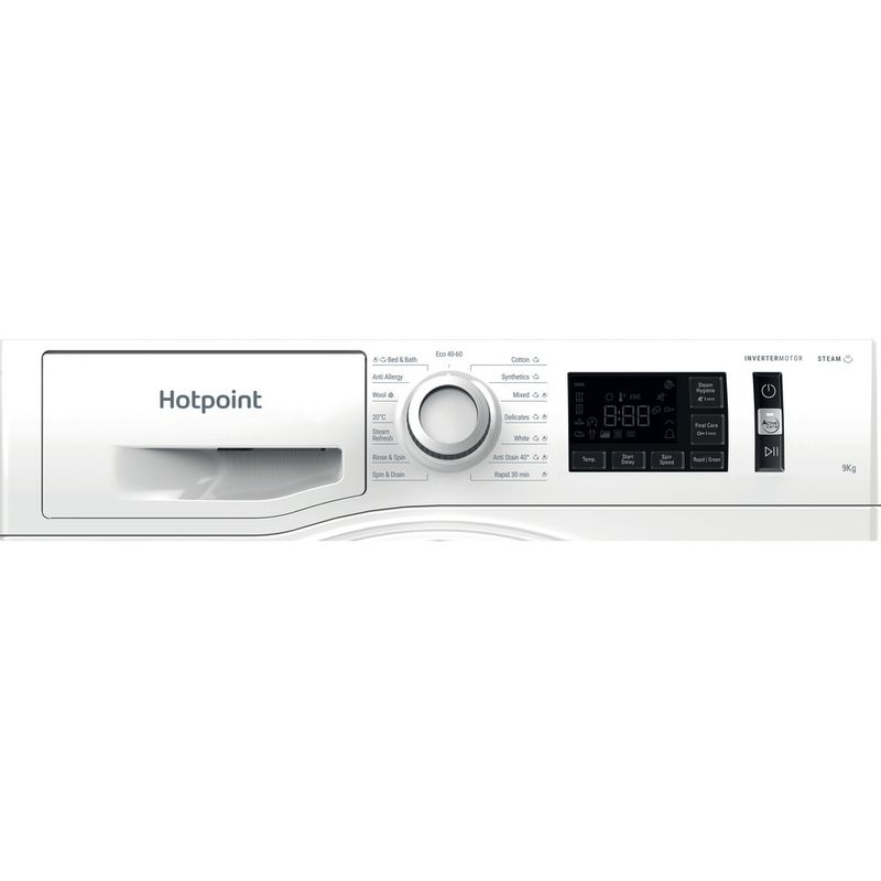 Hotpoint-Washing-machine-Free-standing-NM11-945-WS-A-UK-N-White-Front-loader-B-Control-panel