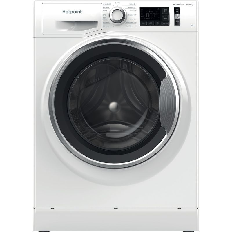 Hotpoint-Washing-machine-Free-standing-NM11-844-WC-A-UK-N-White-Front-loader-B-Frontal