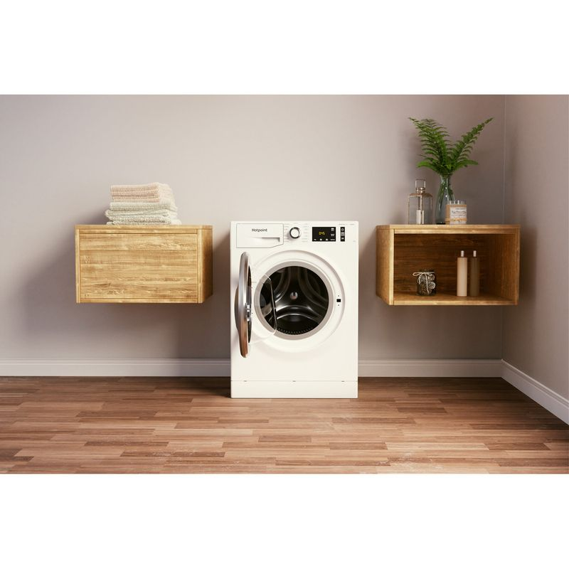 Hotpoint-Washing-machine-Free-standing-NM11-844-WC-A-UK-N-White-Front-loader-B-Lifestyle-frontal-open
