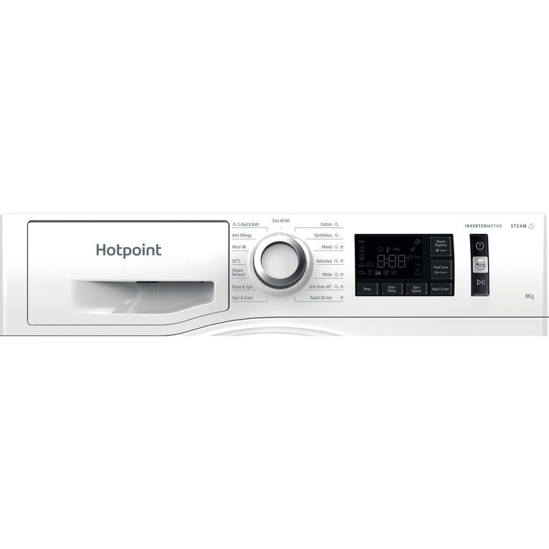 Hotpoint-Washing-machine-Free-standing-NM11-844-WC-A-UK-N-White-Front-loader-B-Control-panel
