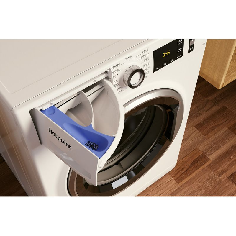 Hotpoint-Washing-machine-Free-standing-NM11-844-WC-A-UK-N-White-Front-loader-B-Drawer