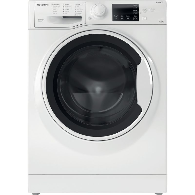 Hotpoint-Washer-dryer-Free-standing-RDGE-9643-W-UK-N-White-Front-loader-Frontal