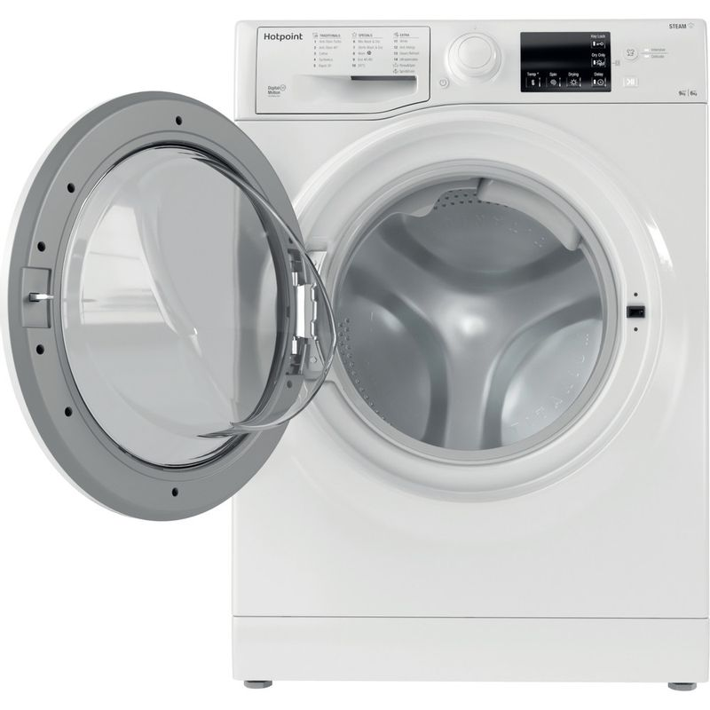 Hotpoint-Washer-dryer-Free-standing-RDGE-9643-W-UK-N-White-Front-loader-Frontal-open