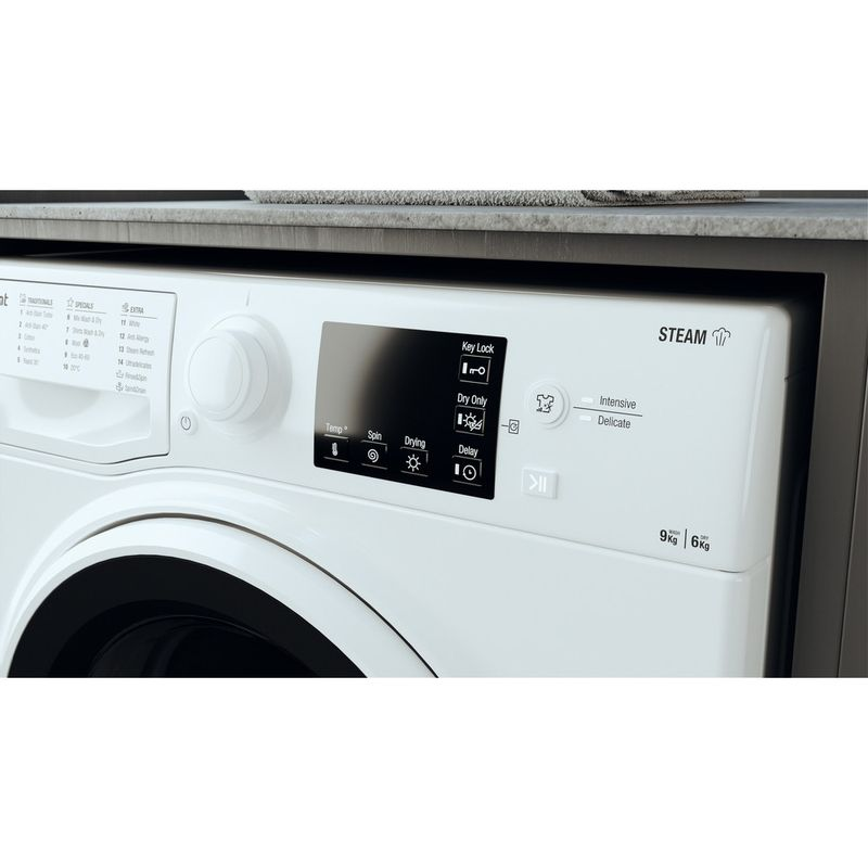 Hotpoint-Washer-dryer-Free-standing-RDGE-9643-W-UK-N-White-Front-loader-Lifestyle-control-panel