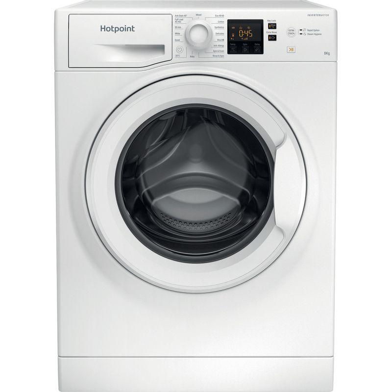 Hotpoint-Washing-machine-Free-standing-NSWR-843C-WK-UK-N-White-Front-loader-D-Frontal