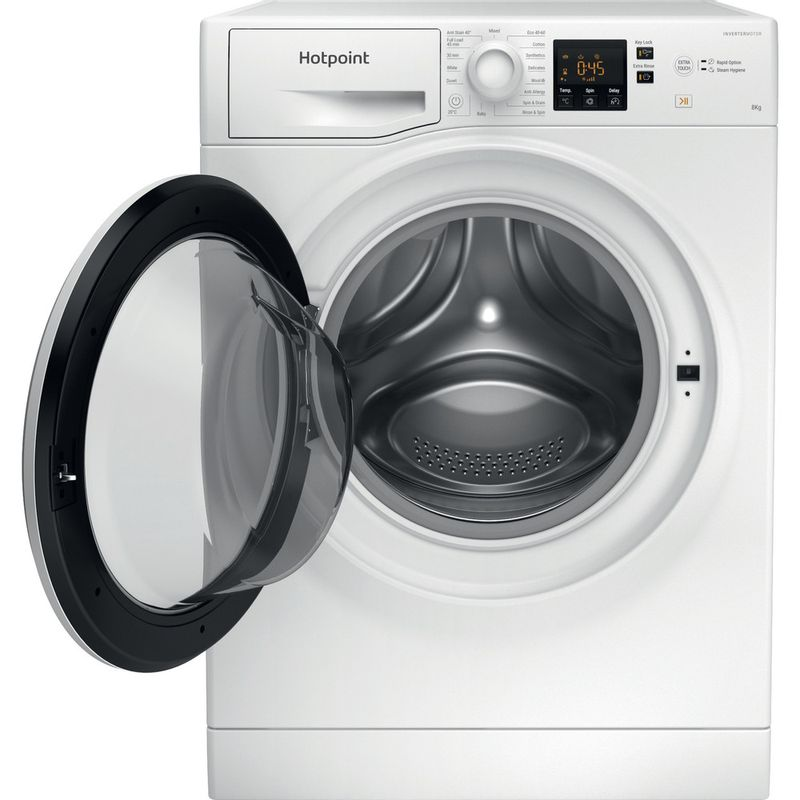 Hotpoint-Washing-machine-Free-standing-NSWR-843C-WK-UK-N-White-Front-loader-D-Frontal-open