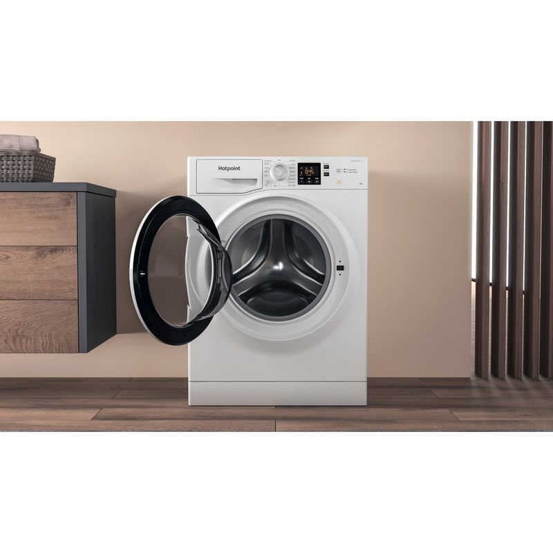Hotpoint-Washing-machine-Free-standing-NSWR-843C-WK-UK-N-White-Front-loader-D-Lifestyle-frontal-open