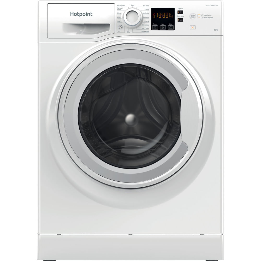 Hotpoint Freestanding Washing Machine NSWM 1043C W UK N : discover the specifications of our home appliances and bring the innovation into your house and family.