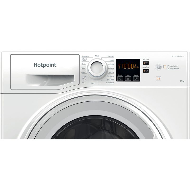 Hotpoint-Washing-machine-Free-standing-NSWM-1043C-W-UK-N-White-Front-loader-D-Control-panel