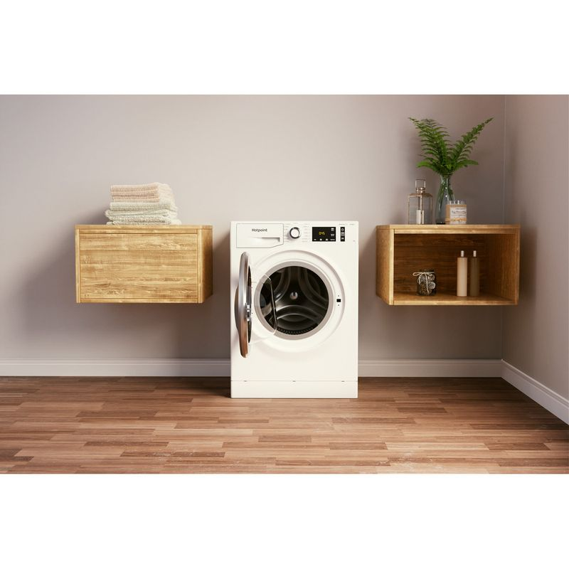 Hotpoint-Washing-machine-Free-standing-NM11-945-WC-A-UK-N-White-Front-loader-B-Lifestyle-frontal-open