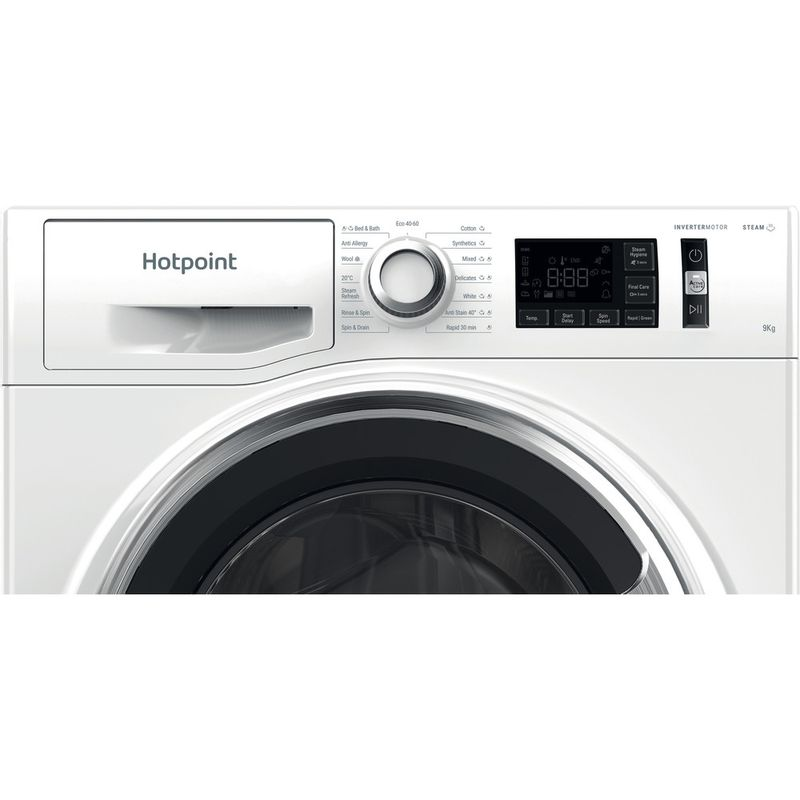 Hotpoint-Washing-machine-Free-standing-NM11-945-WC-A-UK-N-White-Front-loader-B-Control-panel