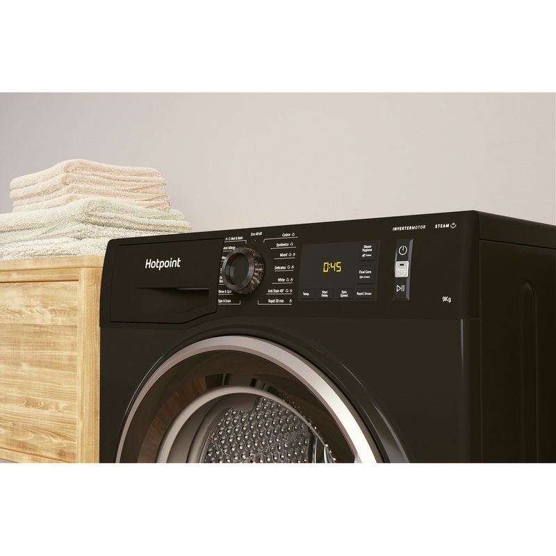 Hotpoint-Washing-machine-Free-standing-NM11-945-BC-A-UK-N-Black-Front-loader-B-Lifestyle-control-panel