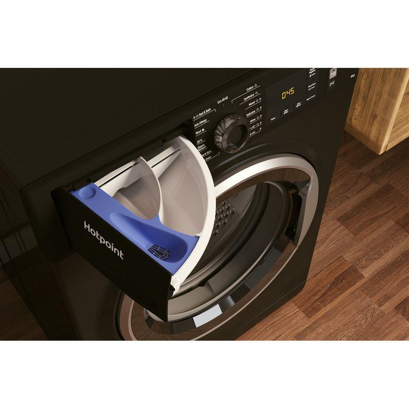 Hotpoint-Washing-machine-Free-standing-NM11-945-BC-A-UK-N-Black-Front-loader-B-Drawer