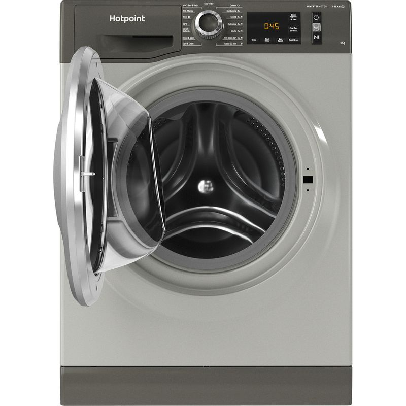 Hotpoint-Washing-machine-Free-standing-NM11-945-GC-A-UK-N-Graphite-Front-loader-B-Frontal-open