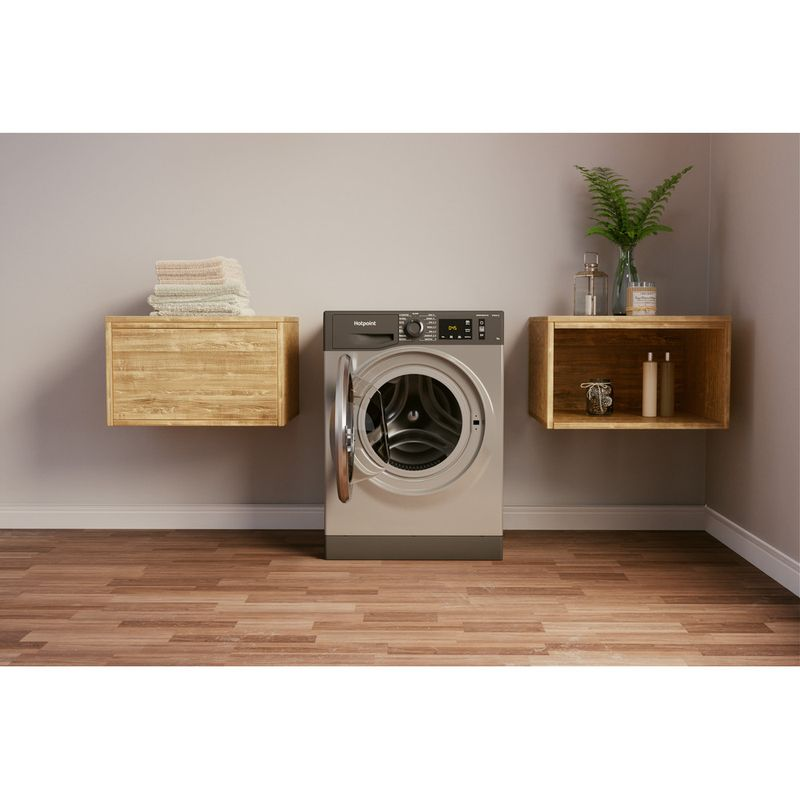 Hotpoint-Washing-machine-Free-standing-NM11-945-GC-A-UK-N-Graphite-Front-loader-B-Lifestyle-frontal-open