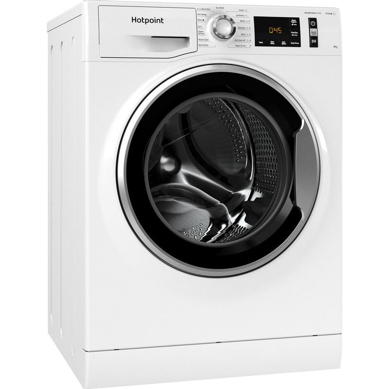 Hotpoint-Washing-machine-Free-standing-NM11-964-WC-A-UK-N-White-Front-loader-C-Perspective