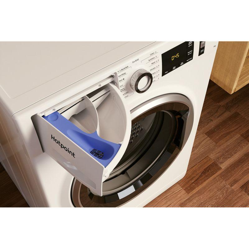 Hotpoint-Washing-machine-Free-standing-NM11-964-WC-A-UK-N-White-Front-loader-C-Drawer