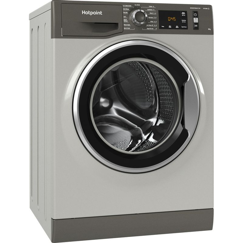 Hotpoint-Washing-machine-Free-standing-NM11-964-GC-A-UK-N-Graphite-Front-loader-C-Perspective