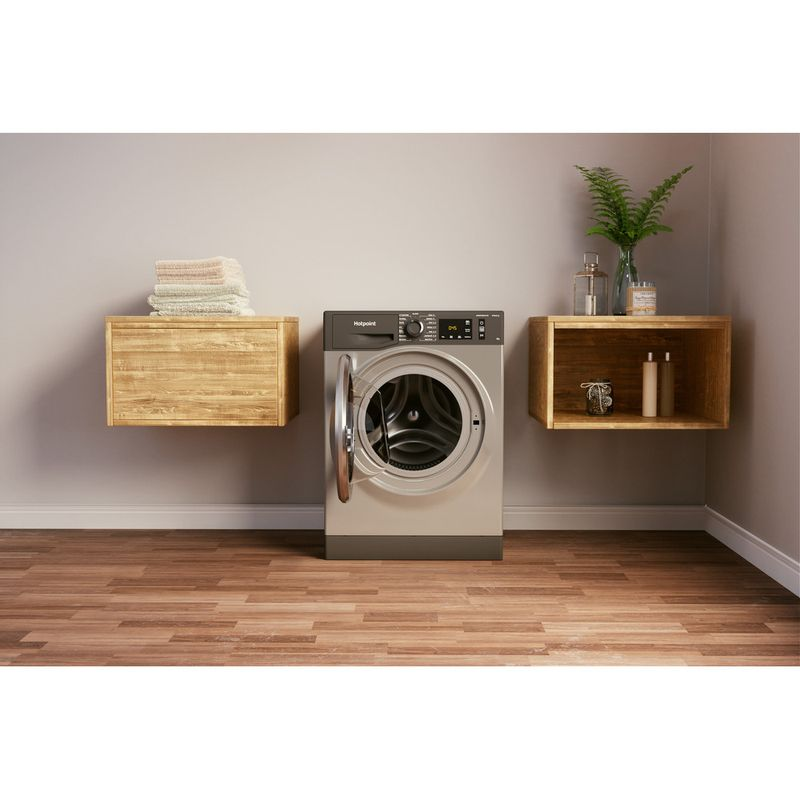 Hotpoint-Washing-machine-Free-standing-NM11-964-GC-A-UK-N-Graphite-Front-loader-C-Lifestyle-frontal-open