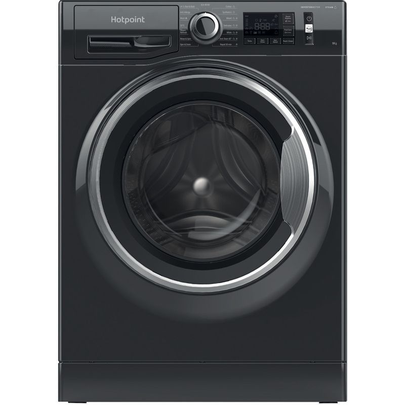 Hotpoint-Washing-machine-Free-standing-NM11-964-BC-A-UK-N-Black-Front-loader-C-Frontal
