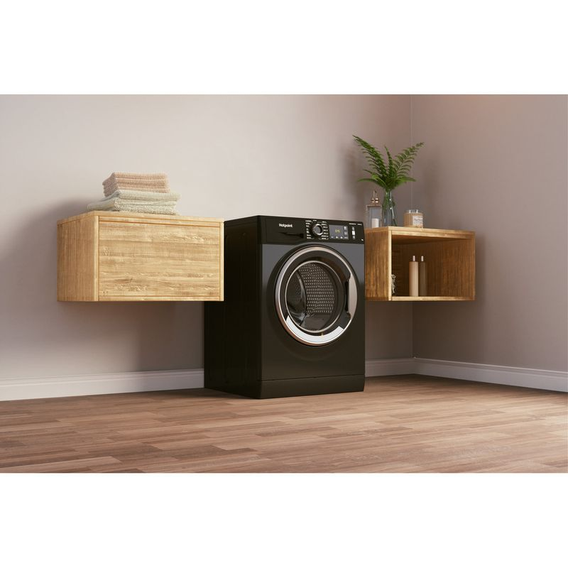 Hotpoint-Washing-machine-Free-standing-NM11-964-BC-A-UK-N-Black-Front-loader-C-Lifestyle-perspective