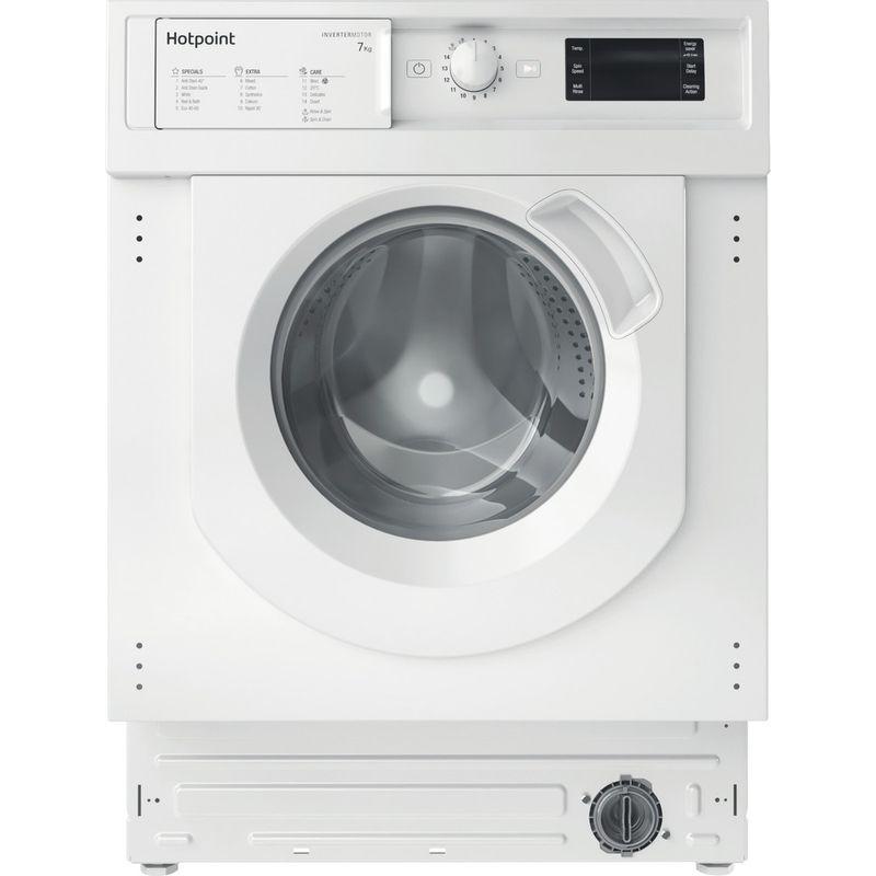 Hotpoint-Washing-machine-Built-in-BI-WMHG-71483-UK-N-White-Front-loader-D-Frontal