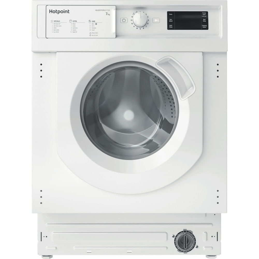 Hotpoint Integrated Washing Machine BI WMHG 71483 UK N : discover the specifications of our home appliances and bring the innovation into your house and family.