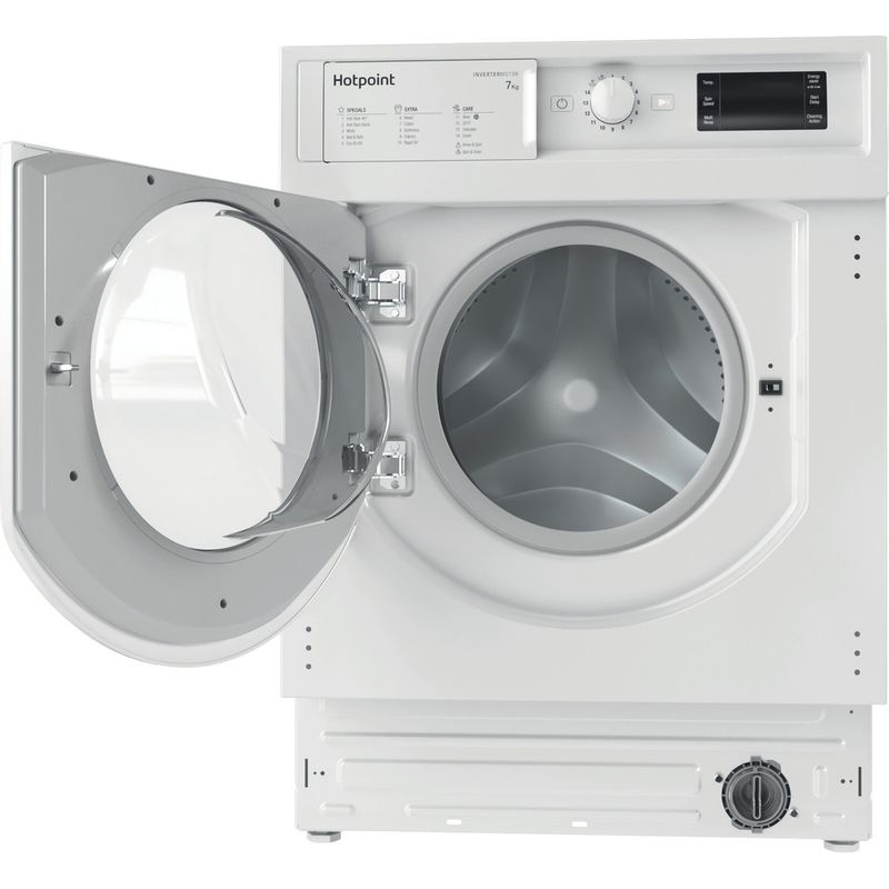 Hotpoint-Washing-machine-Built-in-BI-WMHG-71483-UK-N-White-Front-loader-D-Frontal-open