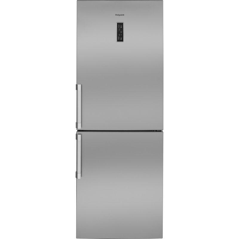 Hotpoint-Fridge-Freezer-Free-standing-NFFUD-191-X-1-Optic-Inox-2-doors-Frontal