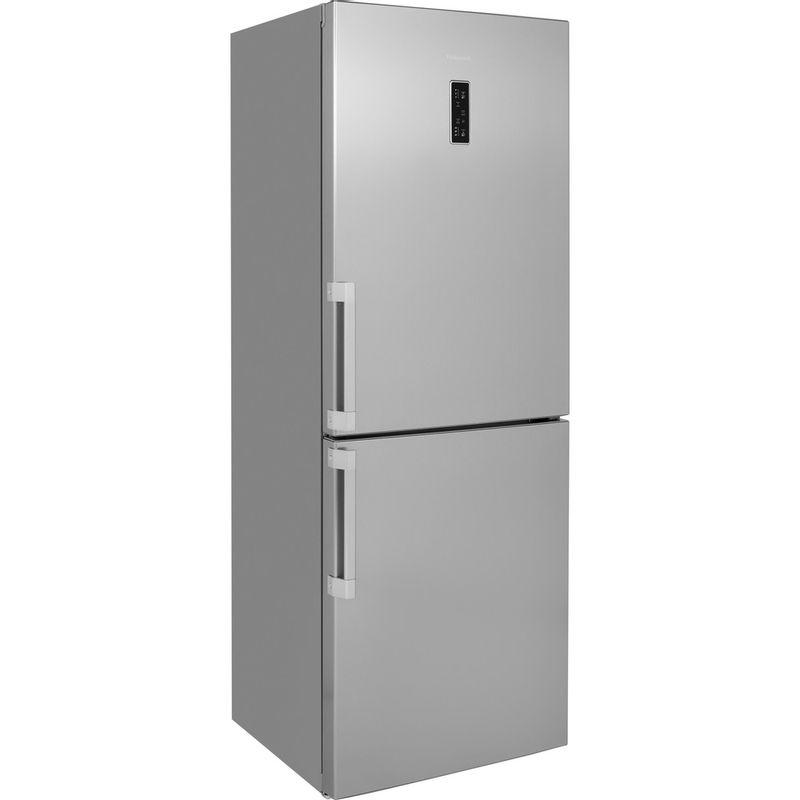Hotpoint-Fridge-Freezer-Free-standing-NFFUD-191-X-1-Optic-Inox-2-doors-Perspective