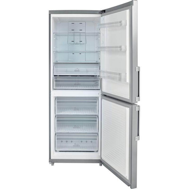 Hotpoint-Fridge-Freezer-Free-standing-NFFUD-191-X-1-Optic-Inox-2-doors-Frontal-open