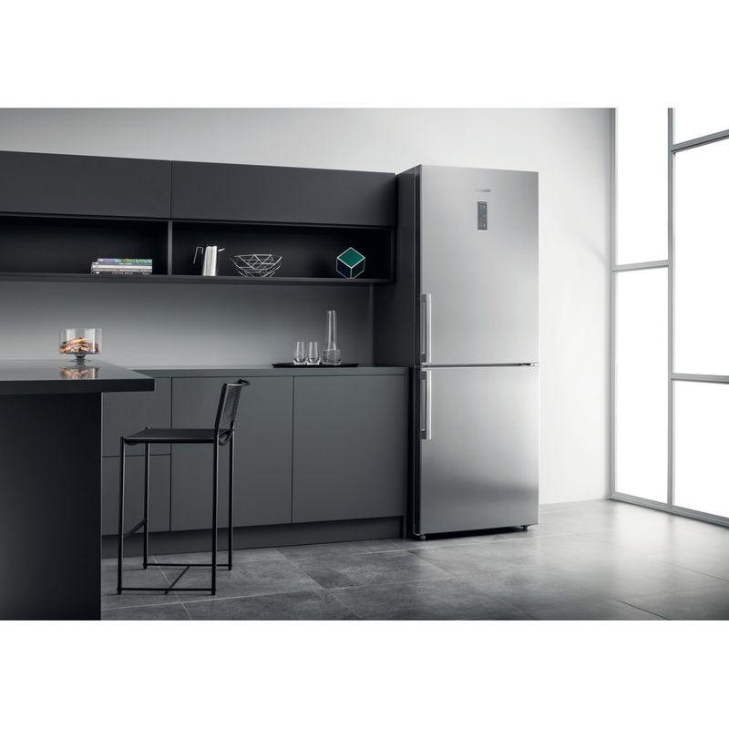 Hotpoint-Fridge-Freezer-Free-standing-NFFUD-191-X-1-Optic-Inox-2-doors-Lifestyle-perspective