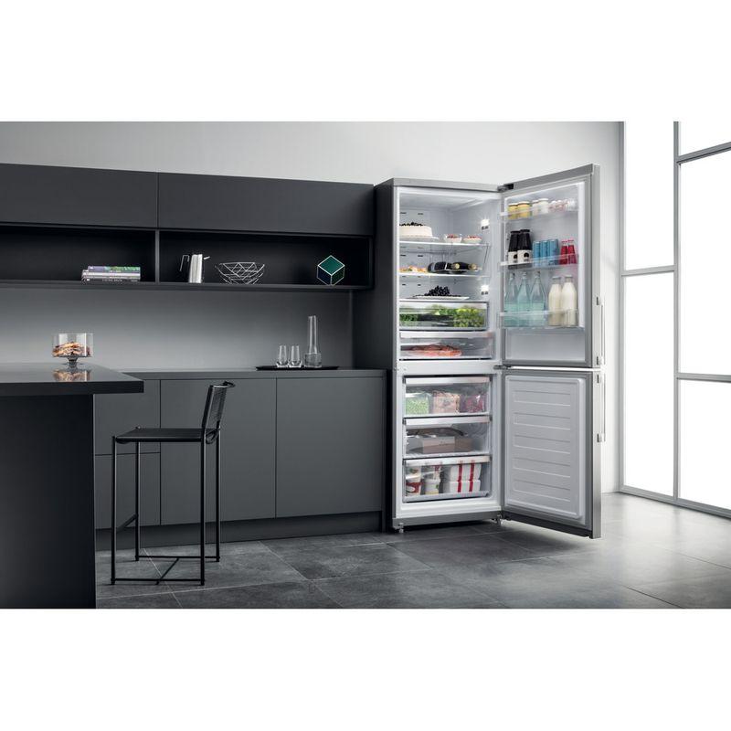 Hotpoint-Fridge-Freezer-Free-standing-NFFUD-191-X-1-Optic-Inox-2-doors-Lifestyle-frontal-open